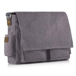 SMRITI 17.3 16 Inch Canvas Messenger Shoulder Bag Laptop Cro