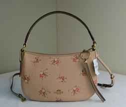 Coach 55373 Beechwood Floral Embossed Leather Sutton Shoulde