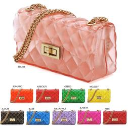 """7"""" Jelly Candy Classic Shoulder Bag Jelly Candy 2-Way Crossb"""