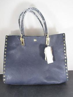 Alyssa Blue Studded Bag In a Bag Shoulder Cross Body Double
