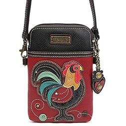Chala Cell Phone Crossbody Bag Rooster Convertible Strap Bur