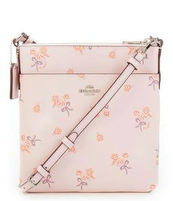 Coach 29878 Ice Pink Floral Bow Crossbody Messenger Bag New