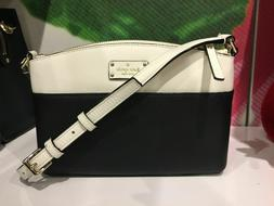Kate Spade Millie Grove Street Leather Crossbody Black&cemn
