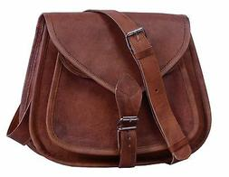 "Komal's Passion Leather 12"" Leather Purse Satchel"