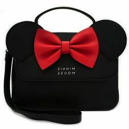 Loungefly - Disney  - Minnie Mouse Black Red Crossbody Bag P