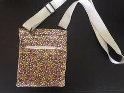 NEW Dakine Brown Floral Pattern Crossbody Bag, Women's Small