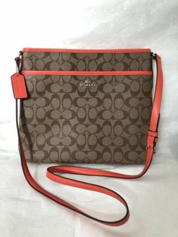 NWT Coach Women Signature File Cross-body Shoulder Bag F5829