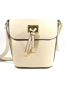 NWT ISABELLE Handbag Vegan Ivory Crossbody Bag Decorative Kn