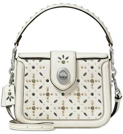 New Coach Page prairie rivets Crossbody Bag tote Clutch Leat