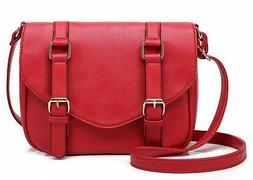 Scarleton Decorative Front Belt Crossbody Bag H1725 Red Woma