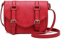 Scarleton Decorative Front Belt Crossbody Bag H172510 - Red