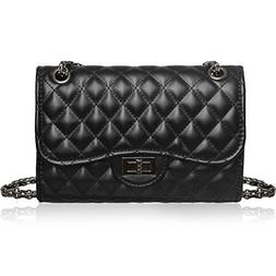 Solarfun Classic Crossbody Shoulder Bag for Women Quilted Pu