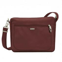 Travelon Anti-theft Classic Small E/W Crossbody Bag Wine 431