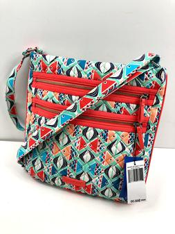 Vera Bradley Iconic Triple Zip Hipster Crossbody, Signature