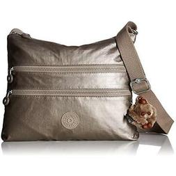Kipling Alvar Gm Cross Bdoy, Metallic Pewter Handbags