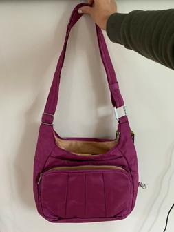 TRAVELON Anti-Theft Complete Crossbody Bag Pink Polyester