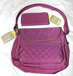 Travelon Anti-Theft Quilted Purple Crossbody No Slash Travel