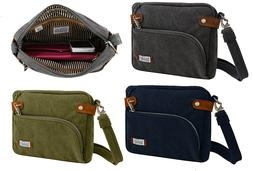 TRAVELON ANTI-THEFT RFID SAFE HERITAGE CROSSBODY BAG TRAVEL