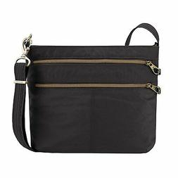 Travelon Anti-theft Signature Double Zip Cross Body Bag, Sna