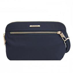 Travelon Anti Theft Tailored Clutch Crossbody Bag Sapphire 4