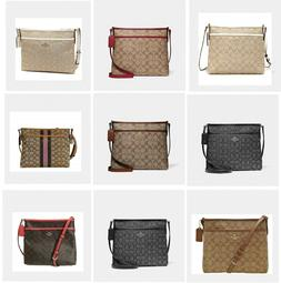 Authentic Coach F29960 F29210 F39041 Signature Zip File Cros