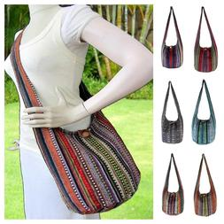 Aztec Crossbody Hippie Hobo Sling Bag Ikat Boho Shoulder Yog