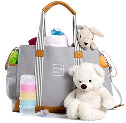 Diaper Bag for Girls and Boys - Large Capacity Baby Bag - Na