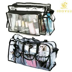 Big Clear Transparent PVC Cosmetic Bags with Removable Adjus