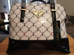 Baby Phat Black & White Logo Tote Bag, Handbag, Purse, Cross
