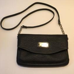 Nine West Black Pebble Faux Leather Tunnel Crossbody/Shoulde