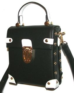 ISABELLE Black/White Vegan Handbag Shoulder bag  Crossbody