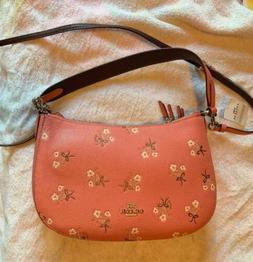 Brand New Coach Sutton Floral-Print Leather Crossbody Bag -