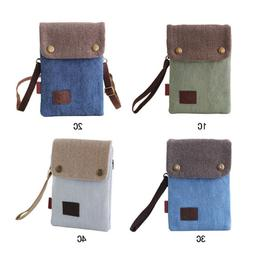 Canvas Small Cute Crossbody Cell Phone Purse Wallet Bag with
