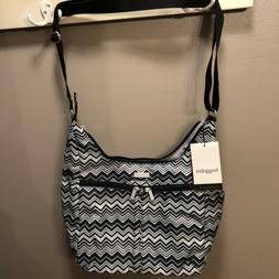 BAGGALLINI Cargo Bag-Black/White zigzag print--NEW WITH TAGS