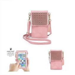 Cell Phone Bag PU Leather Crossbody Mini Purse Wallet Should