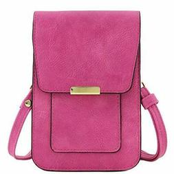 Cell Phone Holder RFID-blocking Wallet Crossbody Bag with Be
