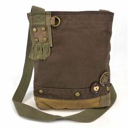 Chala Canvas Cross-body Messenger Bags Only - 11.5 x 10""