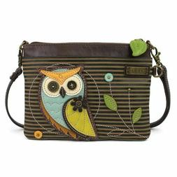 Chala Owl Stripe Mini Crossbody Bag Small Convertible Purse