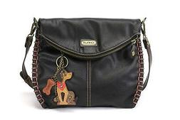 Chala Charming Crossbody Bag with Zipper Flap Top and Metal
