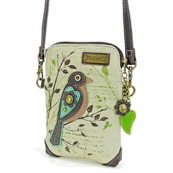 Charming Chala Song Bird on a Branch Cell Phone Purse Mini C