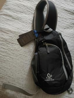 Waterfly Chest Sling Bag Black NWT Crossbody Travel Pack