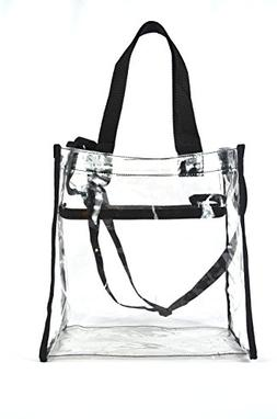 Clear Tote Stadium NFL Approved Bag 12 x 12 x 6 With Zipper
