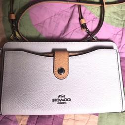 Coach Colorblock Pop Up Messenger Leather Crossbody Bag Purs