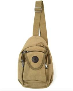 Westend Compact Canvas Sling Bag  Cross-Body Chest Or Should