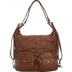 Ampere Creations Convertible Backpack Crossbody Purse Cross-