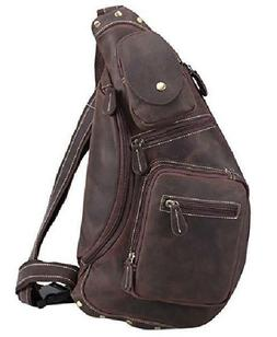 Polare Cool Real Leather Cross Body Sling Bag Chest Bag Back