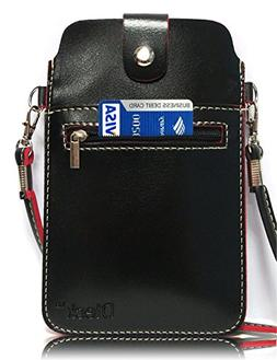 Cell Phone Bag, Dteck Crossbody PU Leather Mini Phone Pouch