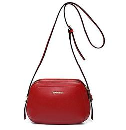 Crossbody Bag Women Small Zip Leather Shoulder Purse Red