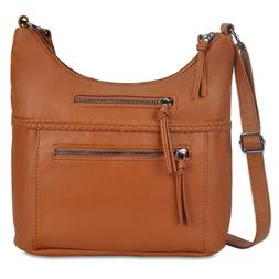 Crossbody Bags for Women, Soft Washed Casual Shoulder Bag Pu