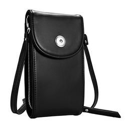 Crossbody Cell Phone Bag, M.Way Cellphone Wallet Purse PU Le